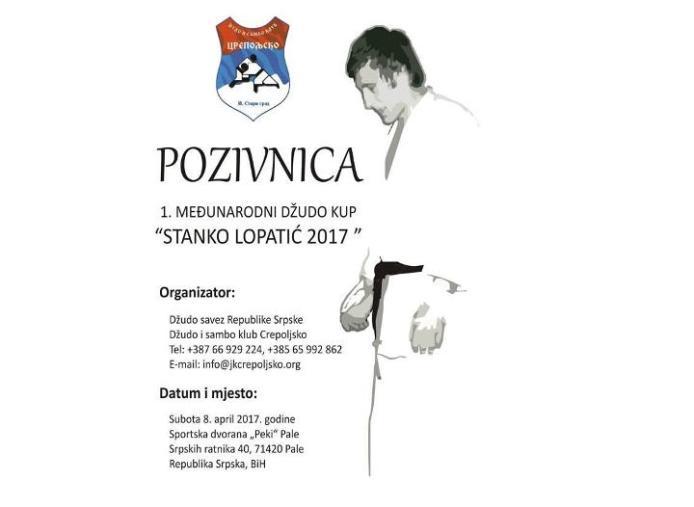 "1. Међународни Џудо куп ""Станко Лопатић 2017."""